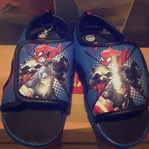 Marvel superhero sandals size 10C